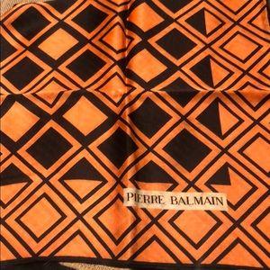 100% silk Pierre Balmain vintage scarf